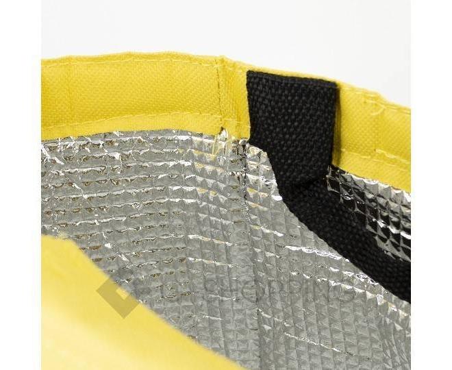 Женская желтая текстильная термосумка среднего размера с принтом C096, фото 8