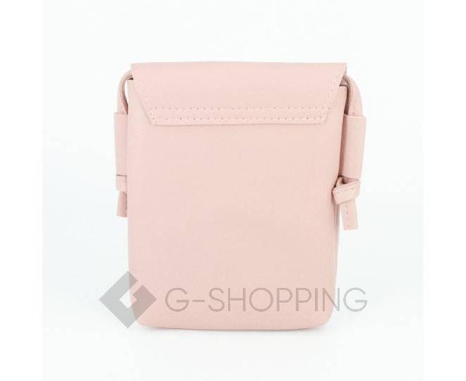 Женская маленькая розовая сумка на магнитной кнопке C097, фото 5