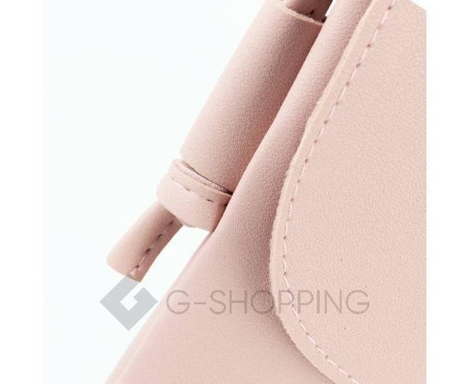 Женская маленькая розовая сумка на магнитной кнопке C097, фото 7