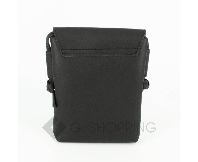 Женская маленькая черная сумка на магнитной кнопке C097, фото 5
