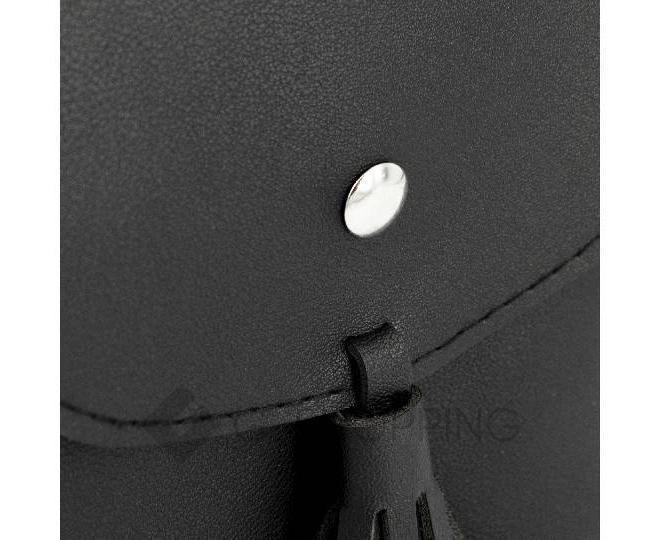 Женская маленькая черная сумка на магнитной кнопке C097, фото 6