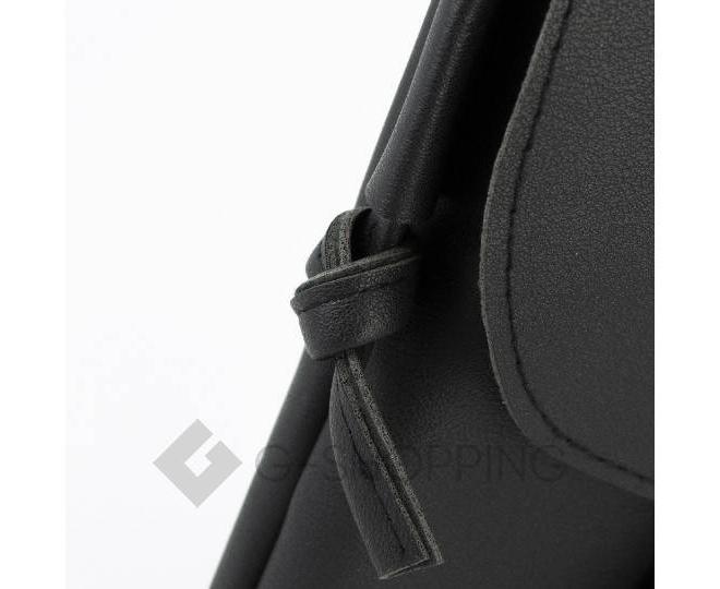 Женская маленькая черная сумка на магнитной кнопке C097, фото 7