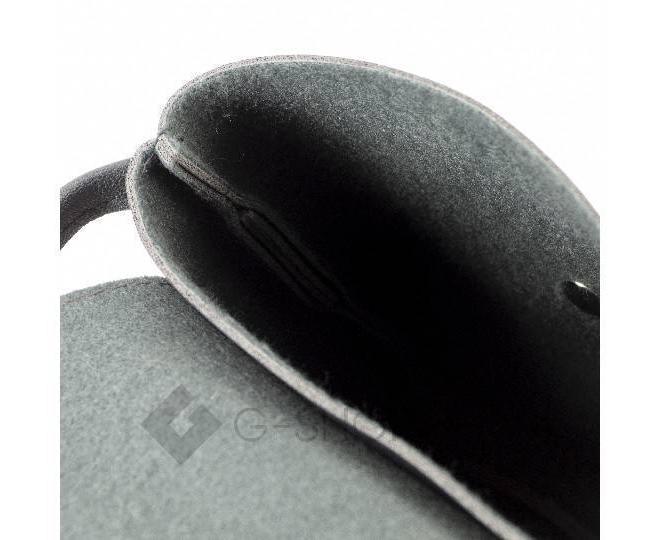Женская маленькая черная сумка на магнитной кнопке C097, фото 8