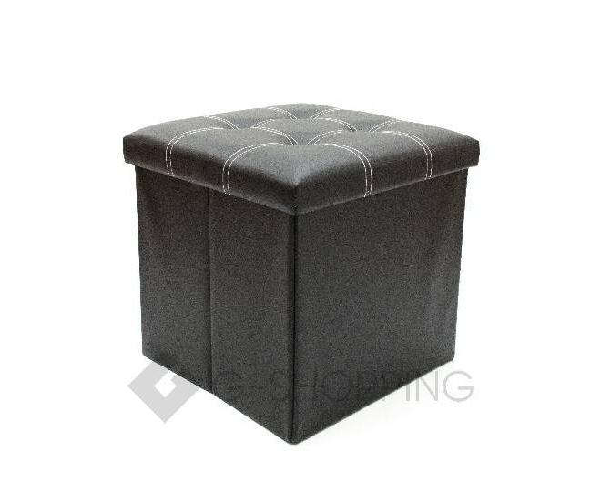 Табурет с местом для хранения RYP56-01-38 38х38 черный, фото 1