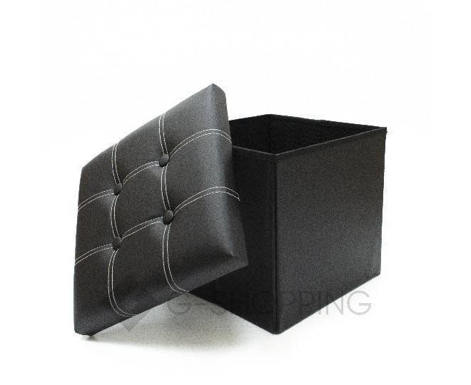 Табурет с местом для хранения RYP56-01-38 38х38 черный, фото 2