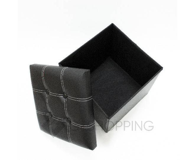 Табурет с местом для хранения RYP56-01-38 38х38 черный, фото 3