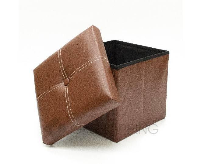 Табурет-ящик RYP56-27-30 30х30 коричневый, фото 2