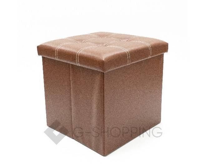 Табурет-ящик RYP56-27-38 38х38 коричневый, фото 1