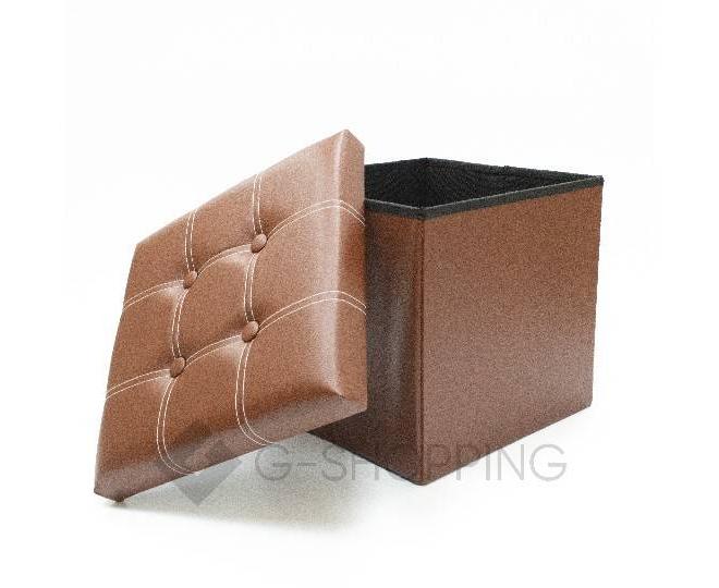 Табурет-ящик RYP56-27-38 38х38 коричневый, фото 2