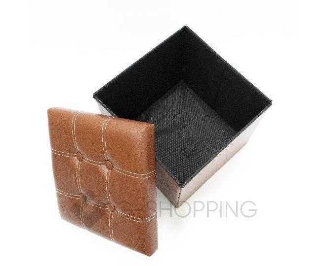 Табурет-ящик RYP56-27-38 38х38 коричневый, фото 3