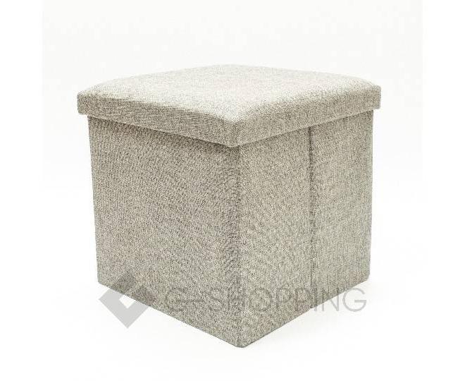 Стильный серый квадратный табурет с ящиком для хранения RYP57-23-30 30х30, фото 1