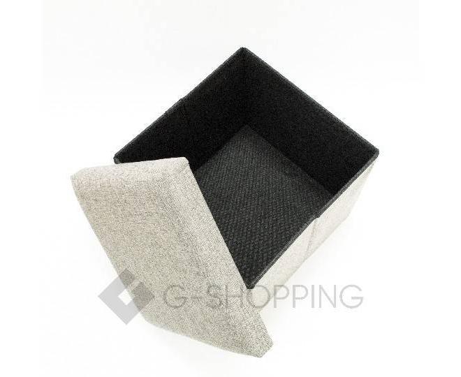 Стильный серый квадратный табурет с ящиком для хранения RYP57-23-30 30х30, фото 3