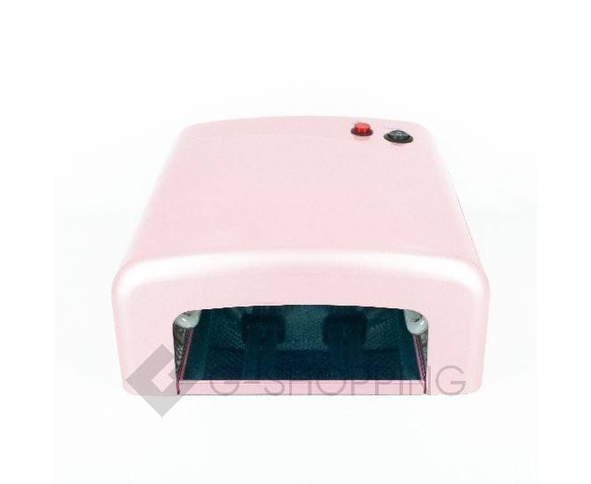 Лампа для сушки ногтей 818 розовая, фото 2
