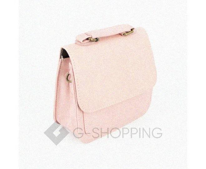 Женская маленькая розовая сумка кросс-боди на магнитной застежке c083 Kingth Goldn, фото 7