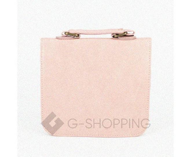 Женская маленькая розовая сумка кросс-боди на магнитной застежке c083 Kingth Goldn, фото 8