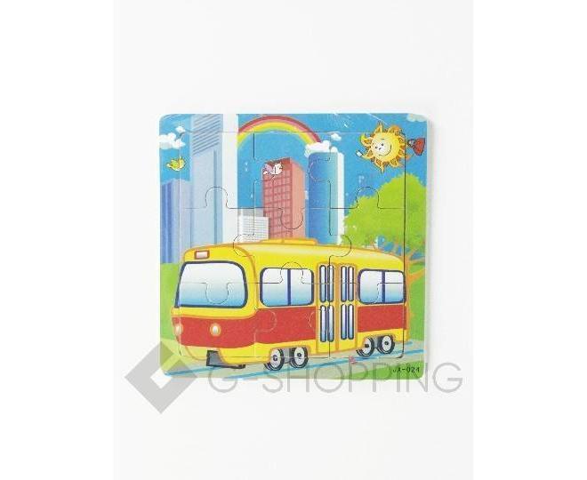 """Детская настольная игра пазл """"Желтый трамвай"""" PT0004  Dolemikki, фото 1"""