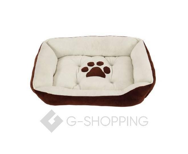 Лежак для собак средних и крупных пород коричневый P0003-26-L, фото 1