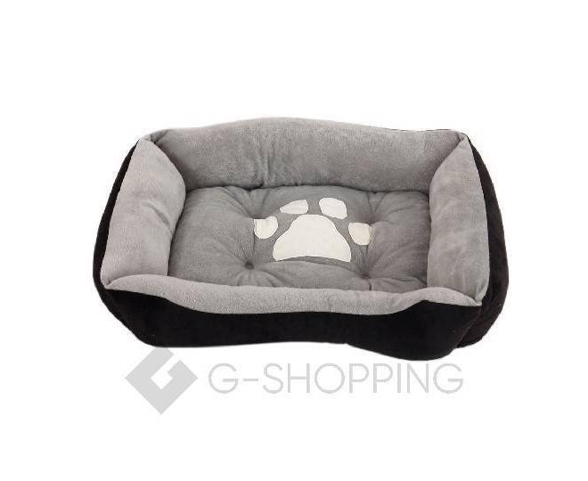 Лежак для собак средних и крупных пород серо-черный P0003-26-M, фото 1