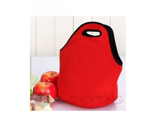 Женская красная сумка из неопрена среднего размера на молнии Kingth Goldn, фото 4