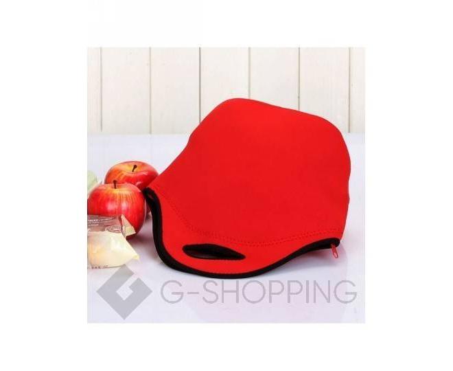 Женская красная сумка из неопрена среднего размера на молнии Kingth Goldn, фото 5