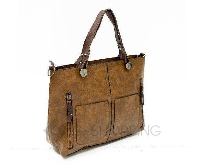 Женская повседневная коричневая сумка на молнии C103-26, фото 5