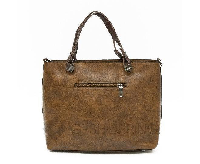 Женская повседневная коричневая сумка на молнии C103-26, фото 6