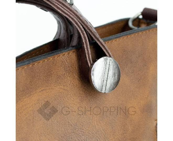Женская повседневная коричневая сумка на молнии C103-26, фото 7