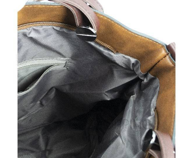 Женская повседневная коричневая сумка на молнии C103-26, фото 9