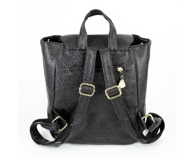 Женский рюкзак из экокожи черный C107-01 Kingth Goldn, фото 9