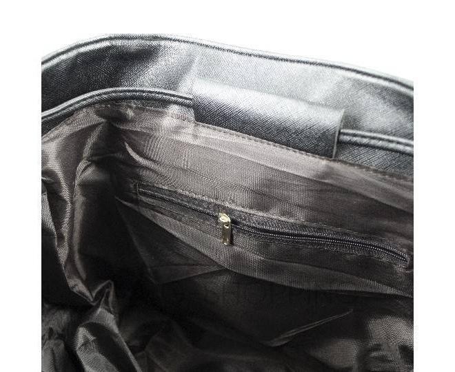 Женский рюкзак из экокожи черный C107-01 Kingth Goldn, фото 5