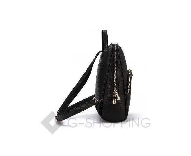 Удобный женский рюкзак черный на молнии KINGTH GOLDN, фото 5