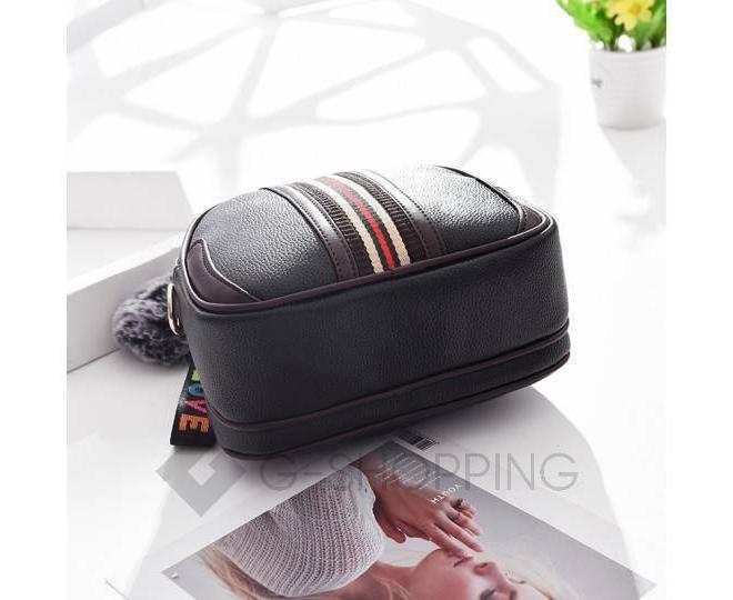 Женская повседневная черная сумка среднего размера на молнии C111-01, фото 6