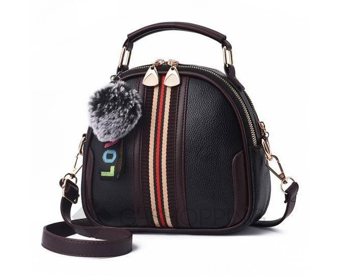 Женская повседневная черная сумка среднего размера на молнии C111-01, фото 8