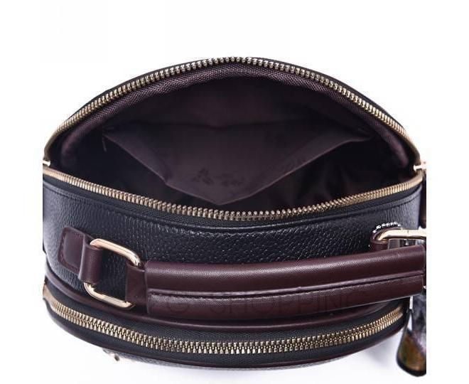 Женская повседневная черная сумка среднего размера на молнии C111-01, фото 9