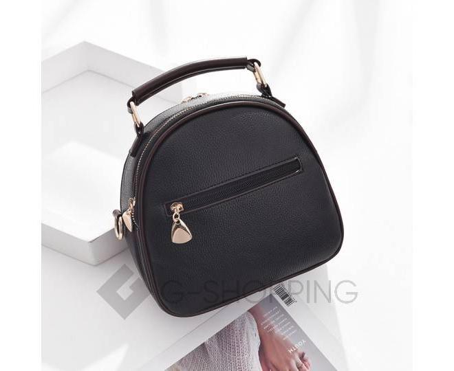 Женская повседневная черная сумка среднего размера на молнии C111-01, фото 5
