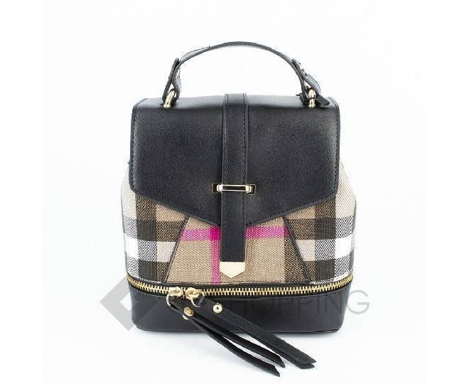 Сумка-рюкзак черный C141-01 Kingth Goldn, фото 1