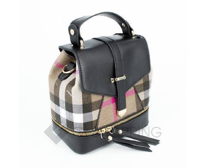 Сумка-рюкзак черный C141-01 Kingth Goldn, фото 2