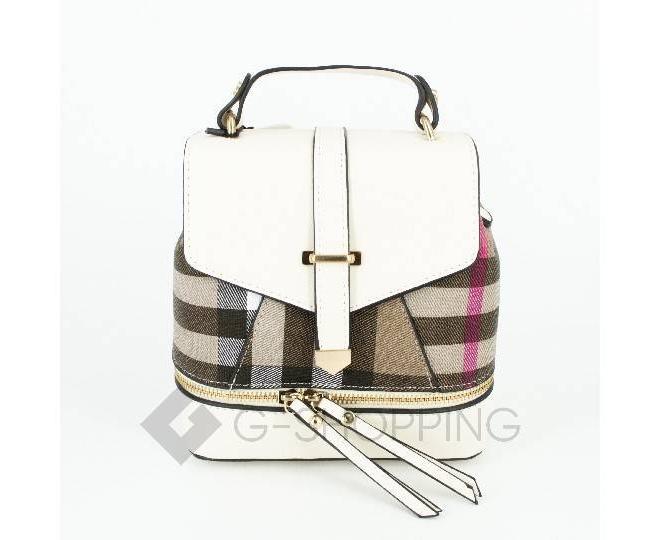 Женский мини-рюкзак из ткани в сочетании с экокожей Kingth Goldn C141-02, фото 1