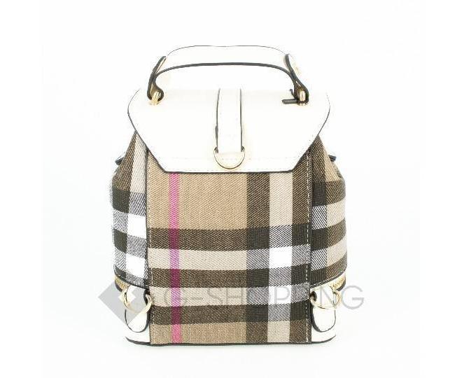 Женский мини-рюкзак из ткани в сочетании с экокожей Kingth Goldn C141-02, фото 3