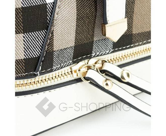 Женский мини-рюкзак из ткани в сочетании с экокожей Kingth Goldn C141-02, фото 4