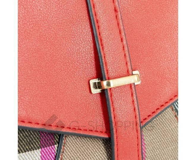 Женский мини-рюкзак из ткани в сочетании с экокожей оранжевый C141-08 Kingth Goldn, фото 4