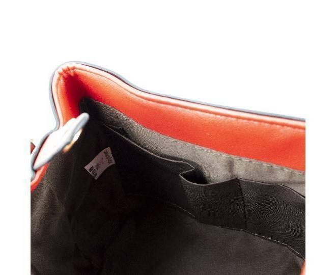 Женский мини-рюкзак из ткани в сочетании с экокожей оранжевый C141-08 Kingth Goldn, фото 6