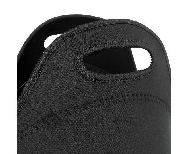 Женская черная сумка из неопрена среднего размера на молнии Kingth Goldn, фото 2