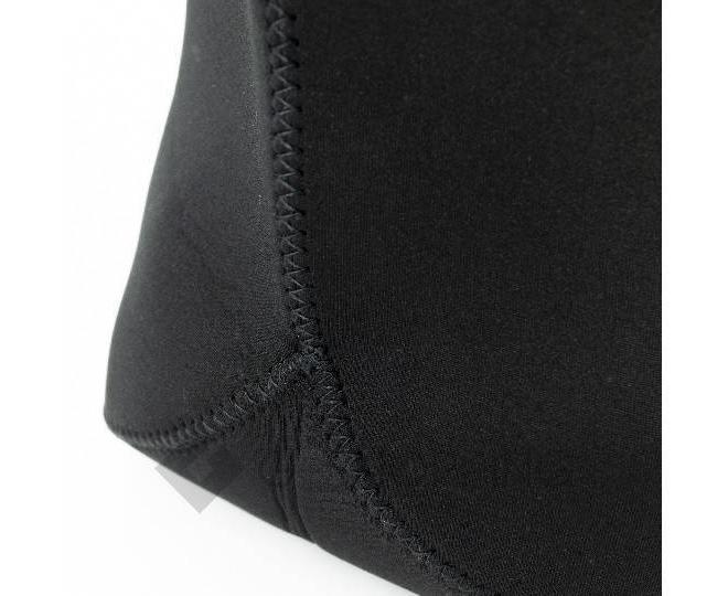 Женская черная сумка из неопрена среднего размера на молнии Kingth Goldn, фото 3