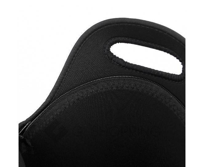 Женская черная сумка из неопрена среднего размера на молнии Kingth Goldn, фото 4