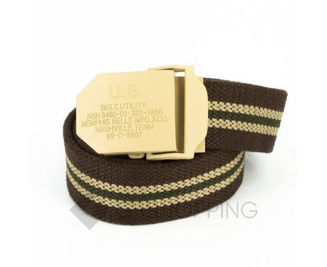 Ремень мужской MSPD02 коричневый Kingth Goldn, фото 1