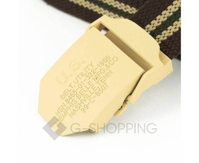 Ремень мужской MSPD02 коричневый Kingth Goldn, фото 2