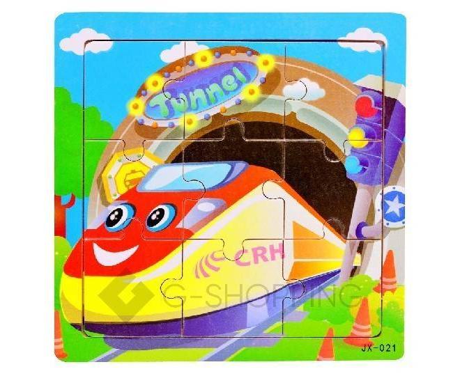 """Детская настольная игра пазл """"Веселый поезд"""" PT0009 Dolemikki, фото 1"""