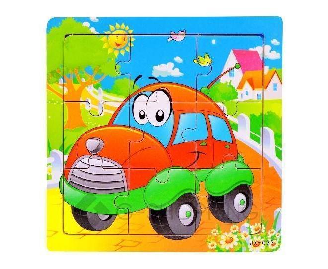 """Детская настольная игрушка пазл """"Веселая машинка"""" PT0020 Dolemikki, фото 1"""