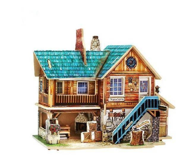 """Сборная деревянная модель дома из серии """"Америка"""" PT0037 Dolemikki, фото 1"""